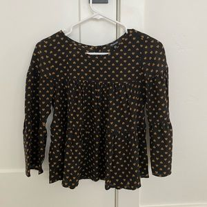 Madewell black with gold hearts top